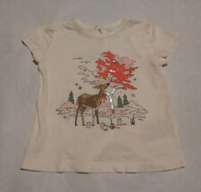 Nwt Baby Gap Girls Deer Painting Make Magic Short Sleeve Tee 12-18 Months