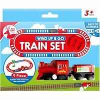 9pc Mini Kids Easy Assemble Junior Wind Up Train Track Set Toy Gift Childrens
