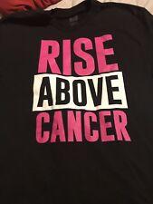 """WWE Rise Above Cancer"""" Black Susan G. Komen T-shirt Used Large See Below Cena"""