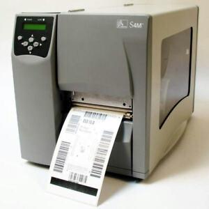 Zebra S4M S4M00-2001-0200T Barcode Label Tag Thermal Printer Network USB