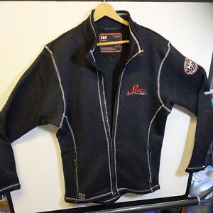 Helly Hansen Mens Black Work Wear Full Zip Fleece Size Large Winter Hiking