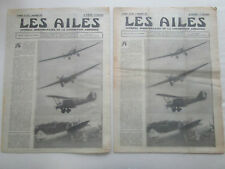 AILES 1931 533 FARMAN-250 PERSE VOL VOILE FERNAND GIRAUD MAKHONINE COUPE DUNLOP