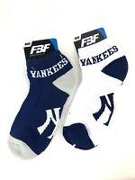 "For Bare Feet ""Money"" No-Show 2 Pair Pack Ankle Socks - New York Yankees"