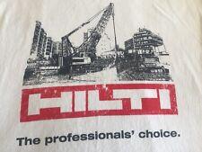 Hilti The Professional' Choice Power Tools Anchors Diamond Drills Men Tshirt 2Xl