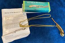 Brass Boatswain Pipe Bosun whistle Maritime Boatswain's Call Navy Boson Pipes