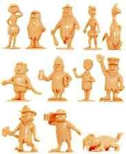 Marx Recast Flintstones Characters - 16 in 12 poses unpainted plastic