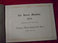 1924 Horace Mannikin, Horace Mann School Yearbook, Riverdale, Fieldston