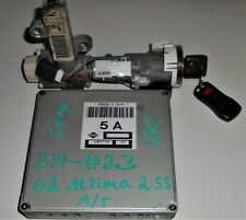 02 NISSAN ALTIMA A/T 2.5S INMOBILISER AND KEY IGNITION SWITCH JA56T77 E23