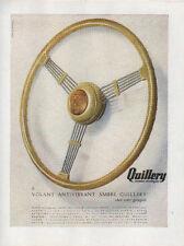 Publicité Advertising  le volant QUILLERY