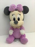Walt Disney Baby Minnie Mouse Disney Parks Stuffed Plush Animal purple gray