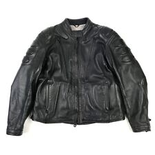 Harley Davidson FXRG Womens Black Leather Armored Vented Motorcycle Jacket 16-18