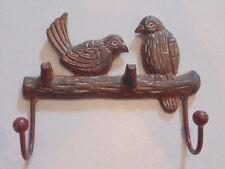 Cast Iron Birds on Tree Branch Coat Hook