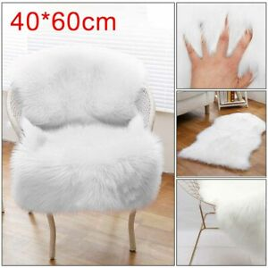 Fluffy Faux Fur Sheepskin Rug Large Hairy Carpet Bedroom Rugs Pad Soft Pile  Rug
