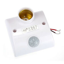 E27 Infrared Motion Pir Sensor Automatic Led Light Lamp Holder Switch Excellent