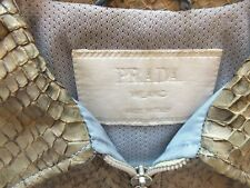 Authentic Prada Milano Italy Jacket snake skin accent very rare size 38 or small