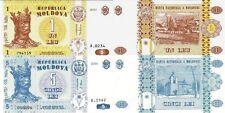 MOLDAVIA Moldova - Lotto Lot 2 banconote 1/5 Lei FDS - UNC