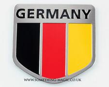 Nouveau Aluminium Brossé drapeau Allemand Allemagne Voiture Badge VW Mercedes