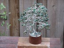 Large Green Aventurine Crystal Gemstone Tree Green Crystal Chips - Bonsai Tree