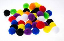 Lot 40 Pompon Rond Boule Couleur Mixte 15mm Peluches Polyester Loisir creatif