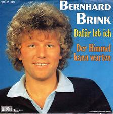"""7"""" JUKE-BOX Single BERNHARD BRINK / Dafür leb ich 1983"""
