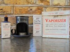 More details for antique boots vaporizer original bottle prop coal tar inhaler with boxed