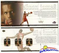 Set of (2) Rare UD 2003 Lebron James Jumbo Rookie Cards MINT!! Tough to Find!