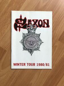 Saxon Winter Tour 1980/81 Programme
