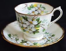 Pretty Royal Albert White Dogwood Bone China Teacup & Saucer England