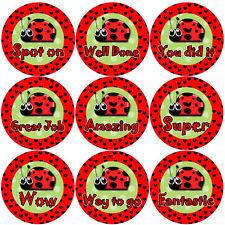 144 encantadora Ladybirds 30mm niños Bug Recompensa Pegatinas para profesor, padre