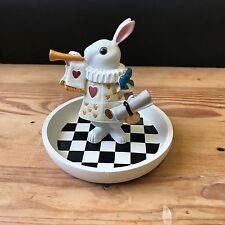 Alice in the Wonderland Theme White Rabbit Jewelery Tray Stand Figure Display