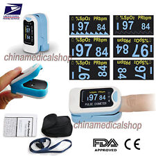 FDA US seller Finger Tip Pulse Oximeter Blood Oxygen SpO2 Monitor Pouch &lanyard