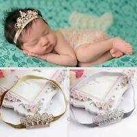 Baby Girl Princess Tiara Pearl Crystal Crown Headband Hair Band Hot Sale Casual