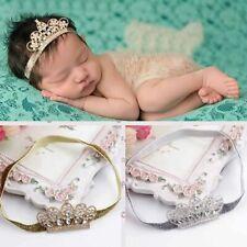Baby Girl Princess Tiara Pearl Crystal Crown Headband Hair Band Sale @qin JeIaE