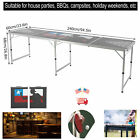 Portable Beer Table Tennis Table Aluminum Folding Camping Party Outdoor BBQ Desk
