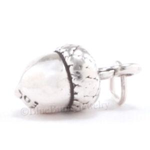 ACORN Charm Fall Autumn Pendant Tree Nut jewelry STERLING SILVER 925 .925 3D