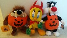 HALLOWEEN Looney Tunes Taz, Tweety and Sylvester Plush Set of 3