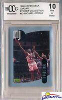 1998 Upper Deck #63 Michael Jordan Sticker BECKETT 10 MINT Bulls HOF