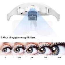 New Eyelash Extension LED Light Magnifying Spec Glasses Hands Free Magnifier