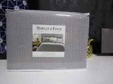 Morgan & Finch TWEED Flannelette Queen Bed Quilt Cover Set - from Bed n Bath