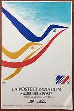 Affiche Exposition LA POSTE ET L'AVIATION Musée de la Poste RAYMOND PAGES *