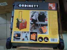 Carrello porta spesa trolley plastica box pieghevole 25 kg borsa con 2 ruote