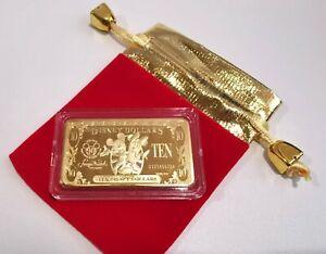Disney Dollars Ten Dollars $10 -1928 to 2018 90 Years Anniversary Gold Color Bar