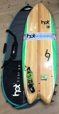 "6""0 Hotsurf69 Soft Kids Learners Surfboards PACKAGE inc Fins/leash & Board bag"