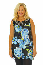 Tunic Floral Plus Size Sleeveless Tops & Blouses for Women