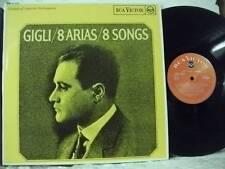 RB-6648 BENIAMINO GIGLI 8 Arias/Songs RCA VICTOR RED SEAL MONO UK VINYL LP 196?