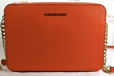 Michael Kors Jet Set Travel Large EW Textured Leather Crossbody Bag in Sea Coral