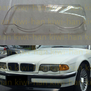 For BMW 7series E38 1998-01s 1Pcs Left Side Headlight Cover Replacement with Glu