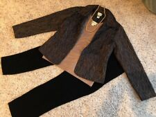 Women's Chico's Sz 1.0 Outfit: Jacket: Travelers Top & Pants; NWOT Necklace.EUC!