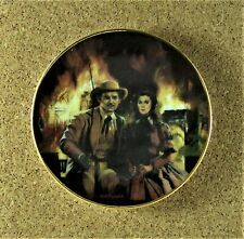 The Burning Of Atlanta Mini Plate #2 Gone With the Wind: Golden Memories 3 1/2""