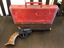 Vintage Topper Johnny Eagle Red River Cap Gun Toy Pistol w/ Original Case 1965